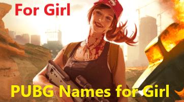 hindi pubg names for girls