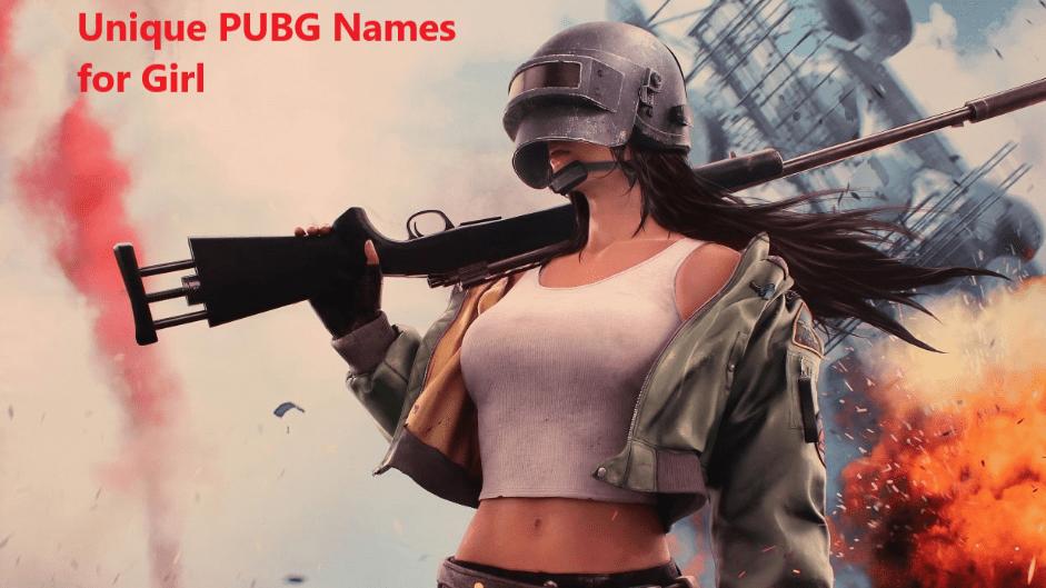 Unique pubg names for girls